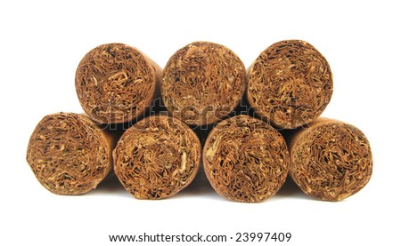 Seven cigars - stock photo