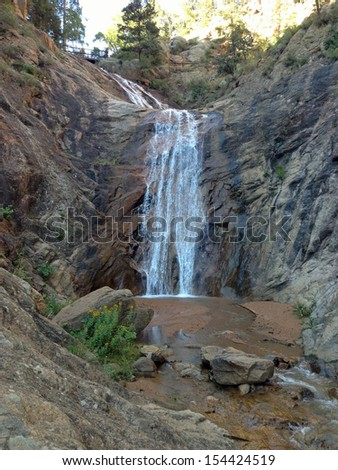 Seven Falls in Colorado Springs - stock photo