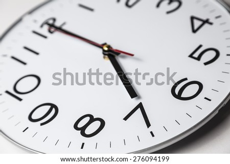 Seven o'clock - stock photo