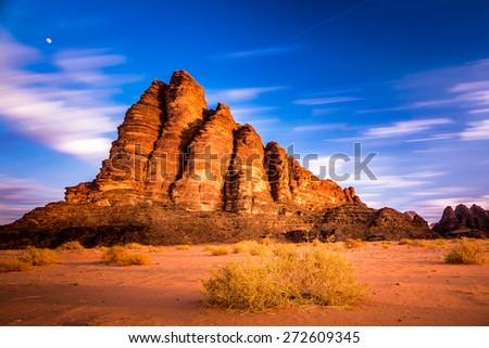 Seven pillars - stock photo