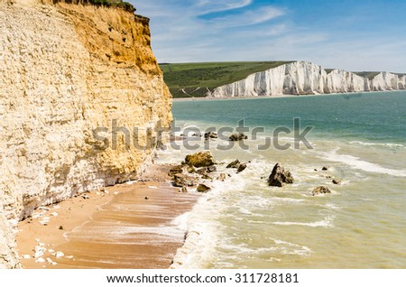 Seven Sisters Country Park in Sussex, UK - stock photo