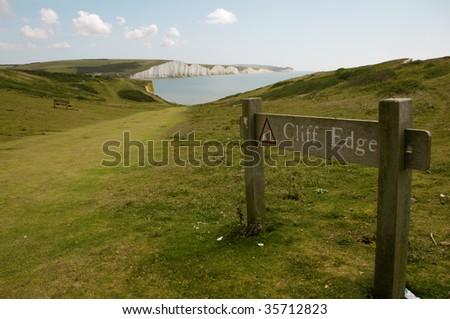 seven sisters, southeast England - stock photo