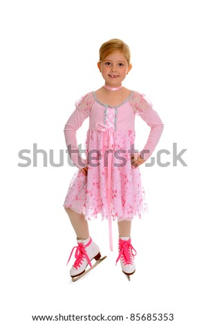 Seven Year Old Figure Skater Smiling with Missing Teeth