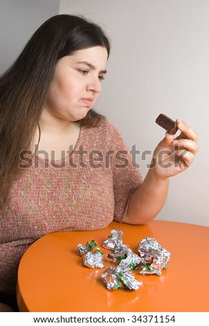 Seventh chocolate - stock photo