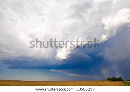 Sever storm - stock photo