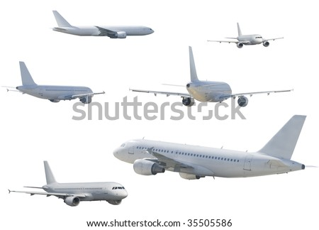 several airliner - stock photo