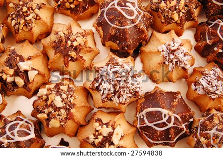 Several Basket with a tasty cookies - stock photo