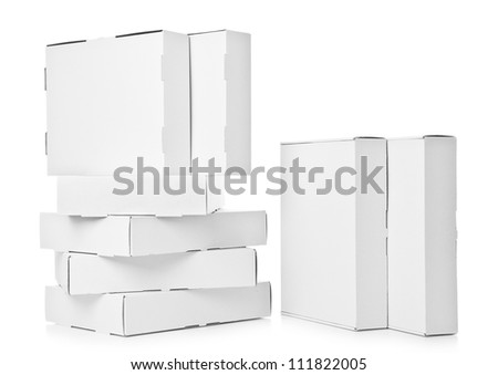 Several cardboard Box - stock photo