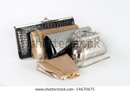 Several colored handbags - stock photo