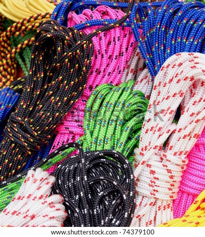 several colorful  ropes
