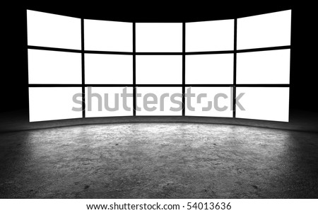 Several light box with blank space,3D rendering - stock photo