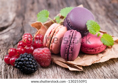 Several macaroons - stock photo