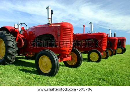 Several Old Tractors