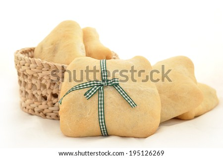 Several pies on white background - stock photo
