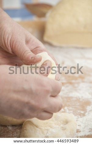 Several small patties  - stock photo
