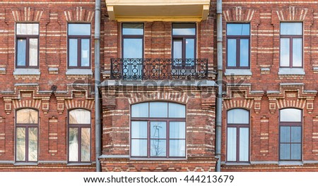 Brick Apartment Building Window brick buildings stock images, royalty-free images & vectors