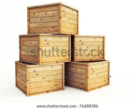 Wooden box stock photos royalty free images vectors for Where do i find wooden crates