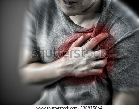 stock photo severe heartache man suffering from chest pain having heart attack or painful cramps pressing on 530875864 severe heartache man suffering chest pain stock photo (royalty free