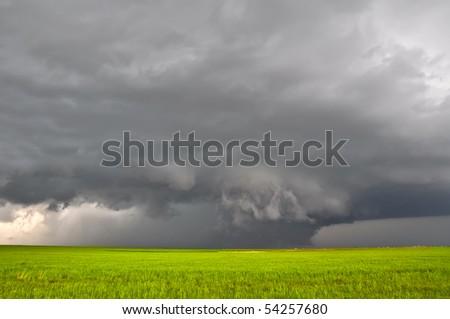 Severe storm - stock photo