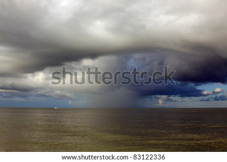 Severe Thunderstorms in the ocean