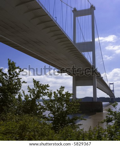 severn road bridge severn estuary gloucestershire monmouthshire england wales