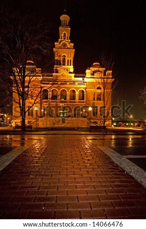 Sevier County Courthouse, Sevierville, Tennessee - stock photo