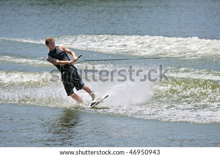 SEVIILLA - JUNE 6: Participant in FAM International Championships of Ski Water on June 6, 2008 in Sevilla, Spain.