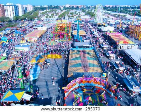 Sevilla,Feria de Abril - stock photo