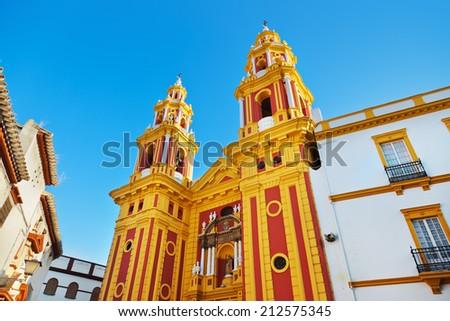 Sevilla Spain architecture - travel background - stock photo