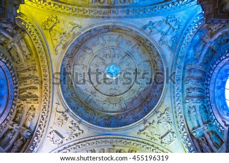 SEVILLA, SPAIN, JANUARY 7, 2016: view of a cupola of the cathedral in the spanish city sevilla