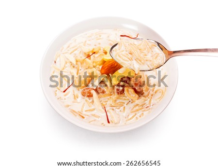 Seviya Kheer Indian traditional sweet dish - stock photo