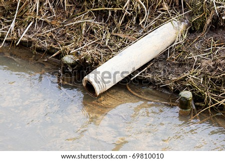 Sewage drainage system - stock photo