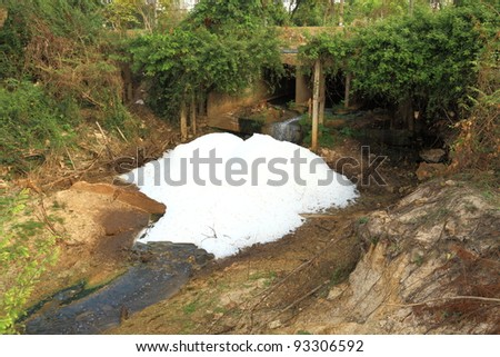 Sewage in the canal. - stock photo