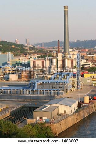 Sewage plant - stock photo