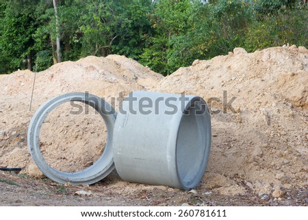 Sewer Pipe - stock photo