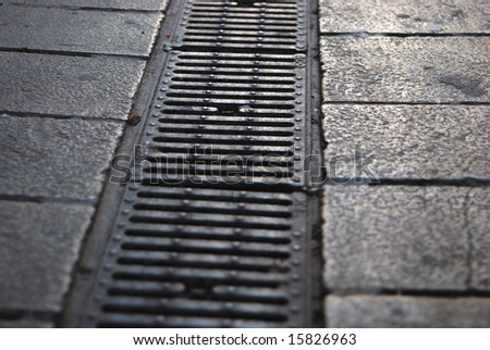 Sewerage system on the footpath