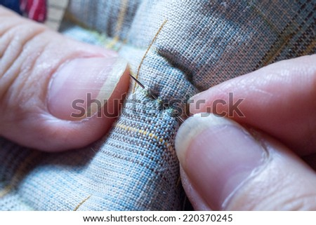 Sewing - stock photo
