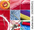 Sewing and knitting collage (single images are in my gallery) - stock photo