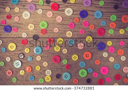 Sewing buttons background. Colorful sewing buttons texture.vintage color