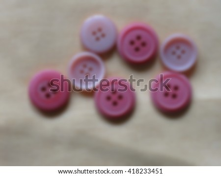 Sewing buttons, Plastic buttons, Colorful buttons on white background, Buttons close up , blurred 100%  - stock photo