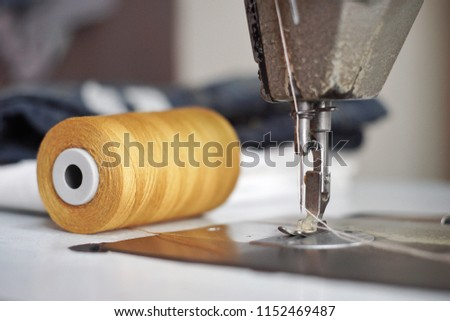 Sewing Denim Jeans Vintage Union Sewing Stock Photo Edit Now Fascinating Hemming Jeans Sewing Machine