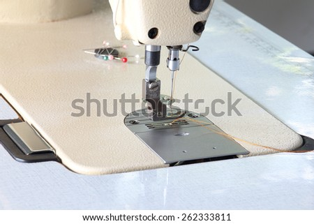 sewing machine - stock photo