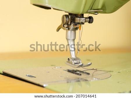 Sewing Machine close up - stock photo
