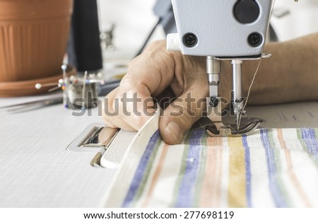 Sewing machine close up.  - stock photo