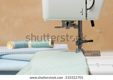 Sewing Machine. Textile. Tailoring Hobby Accessories.