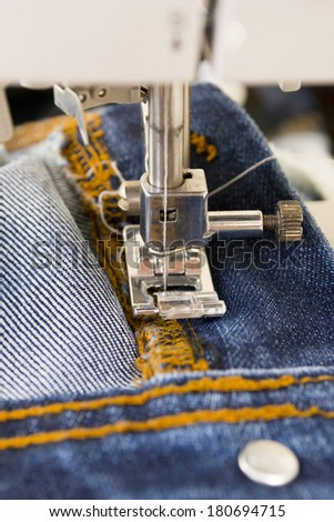 Sewing Machine with Needle - stock photo