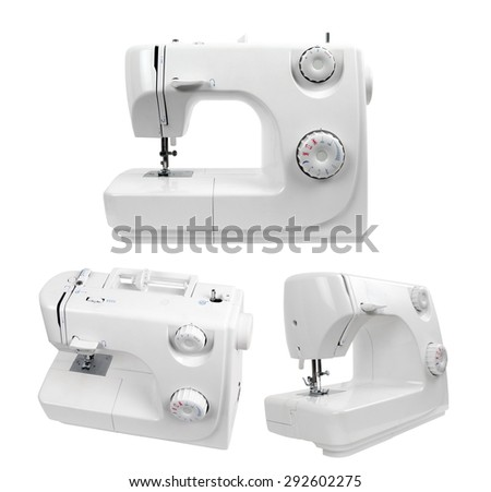 sewing machines isolated on white