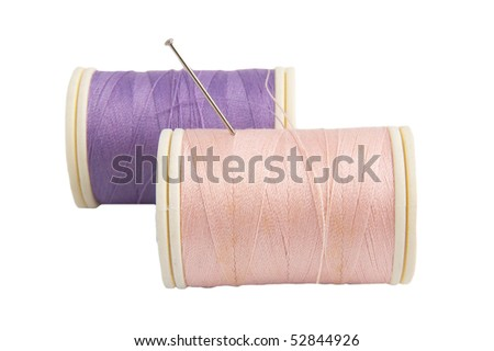 sewing reels and pin