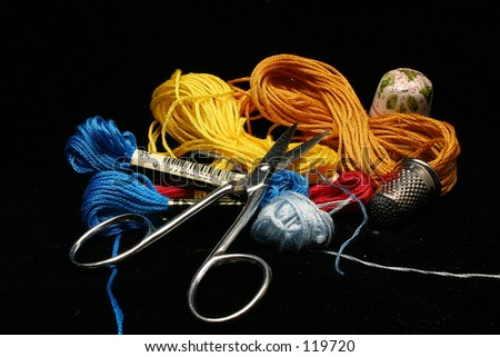 Sewing things 3 - stock photo