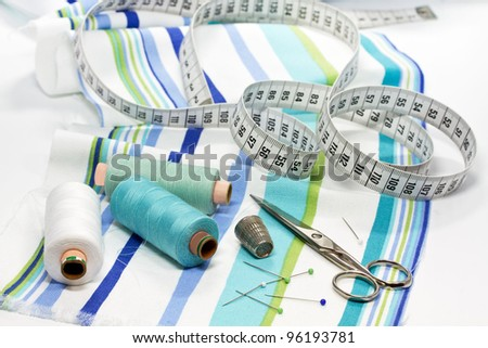 Sewing things - stock photo